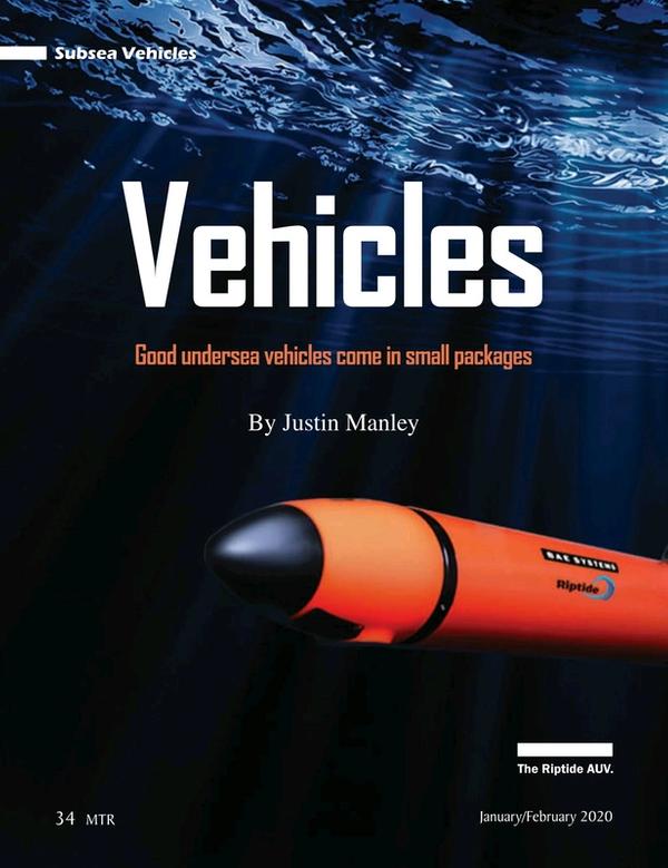 Marine Technology Magazine, page 34,  Jan 2020