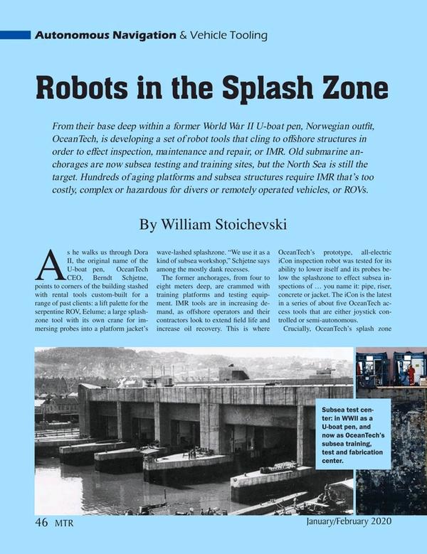 Marine Technology Magazine, page 46,  Jan 2020