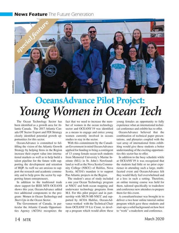 Marine Technology Magazine, page 14,  Mar 2020