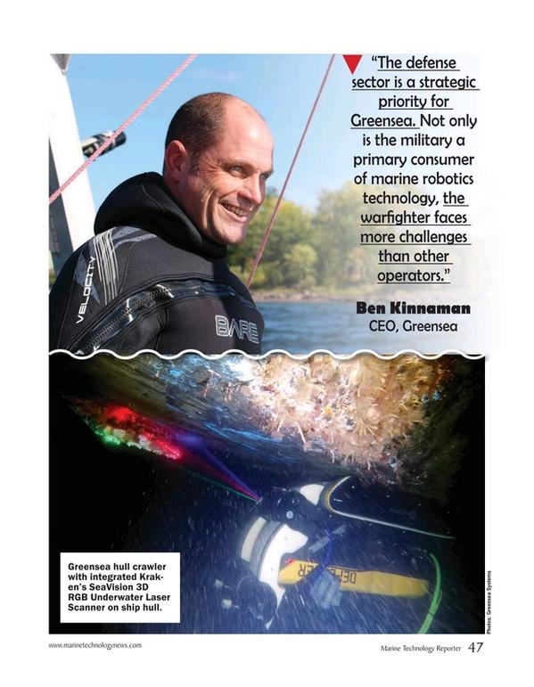 Marine Technology Magazine, page 47,  May 2020