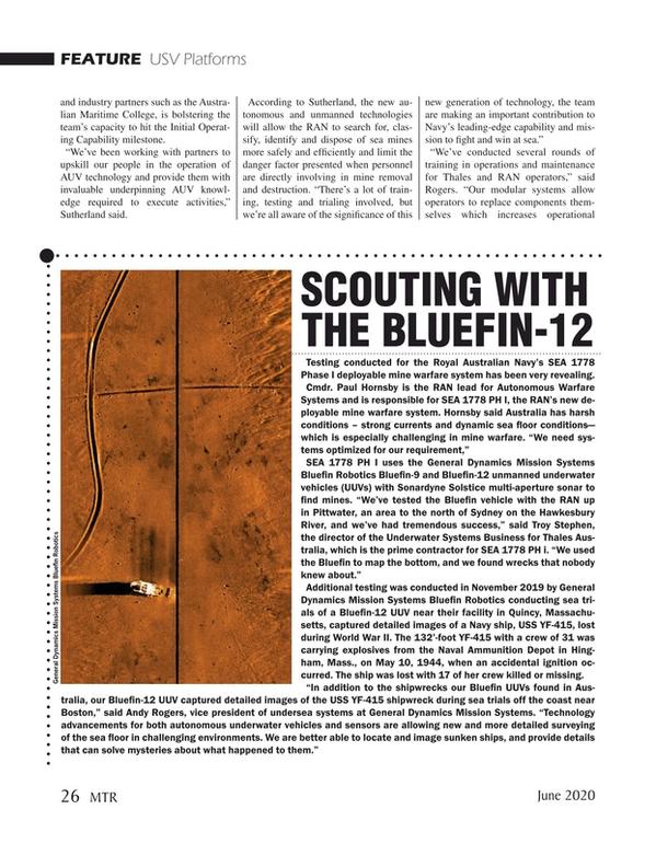Marine Technology Magazine, page 26,  Jun 2020