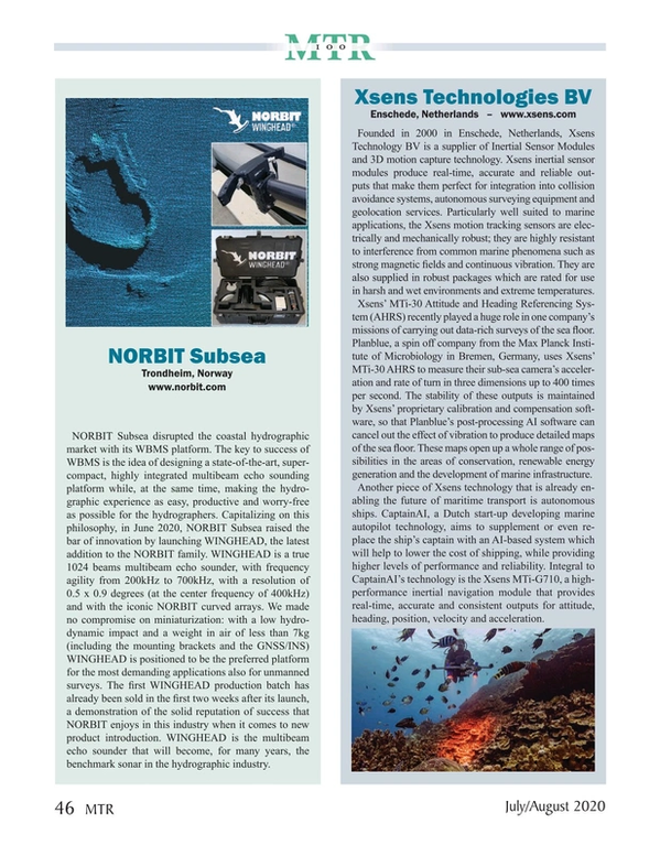 Marine Technology Magazine, page 46,  Jul 2020