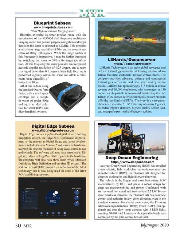 Marine Technology Magazine, page 50,  Jul 2020