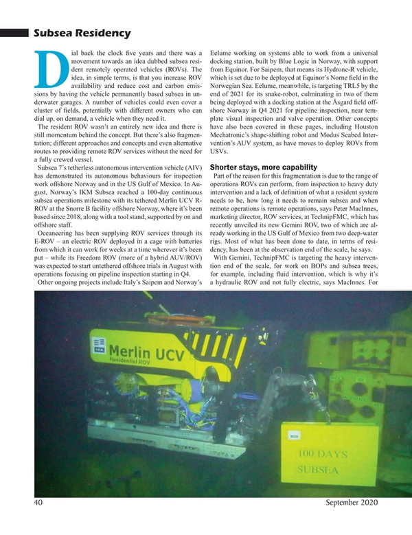 Marine Technology Magazine, page 40,  Sep 2020