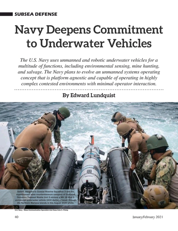 Marine Technology Magazine, page 40,  Jan 2021