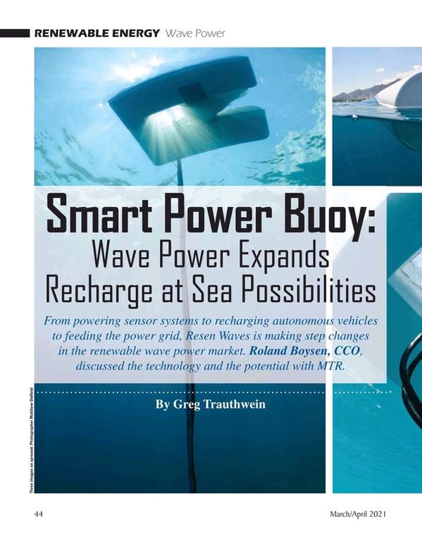 Marine Technology Magazine, page 44,  Mar 2021