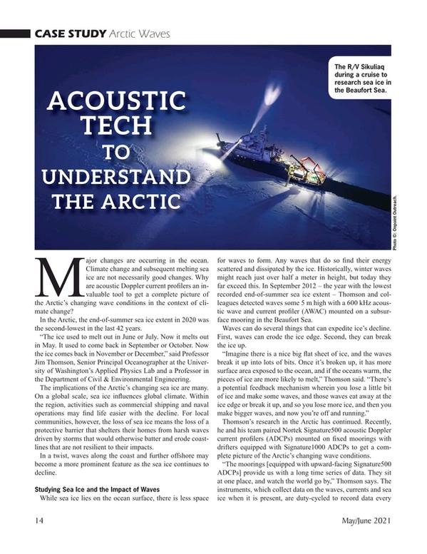 Marine Technology Magazine, page 14,  May 2021