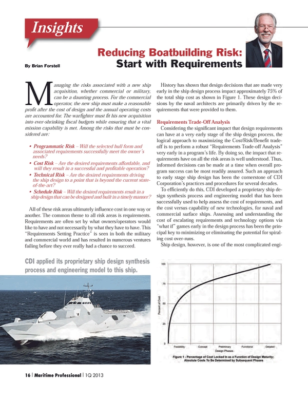 Maritime Logistics Professional Magazine, page 16,  Q1 2013 ??Requirements Trade