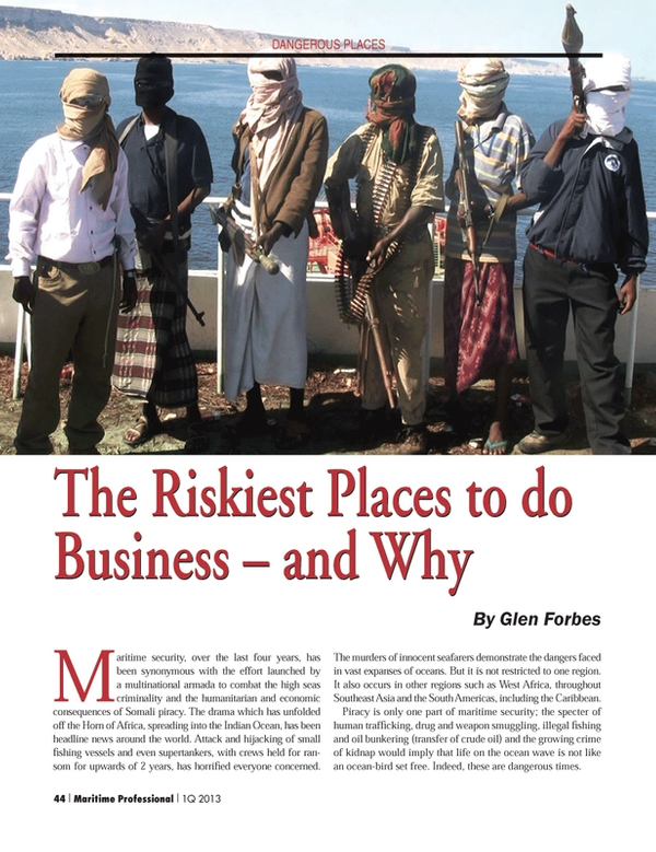 Maritime Logistics Professional Magazine, page 44,  Q1 2013