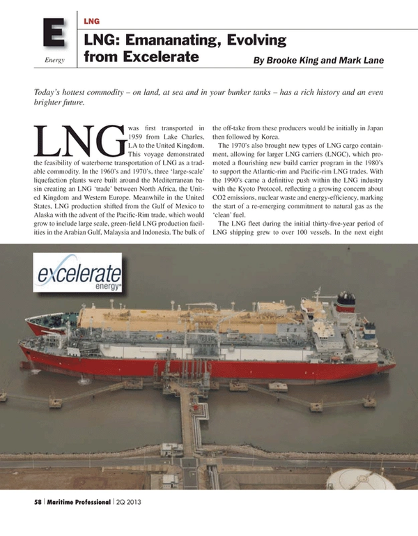 Maritime Logistics Professional Magazine, page 58,  Q2 2013