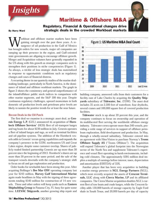 Maritime Logistics Professional Magazine, page 16,  Q3 2013
