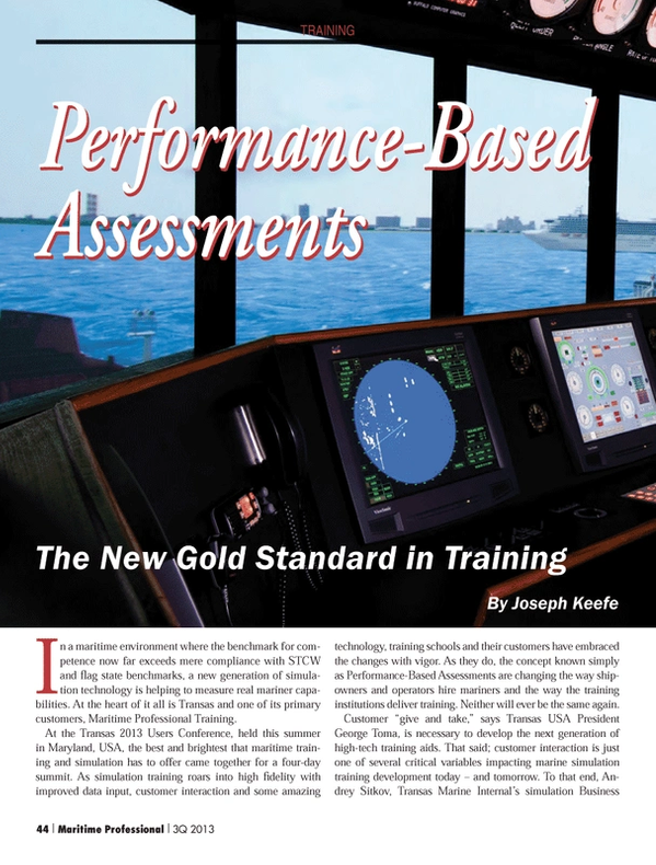 Maritime Logistics Professional Magazine, page 44,  Q3 2013