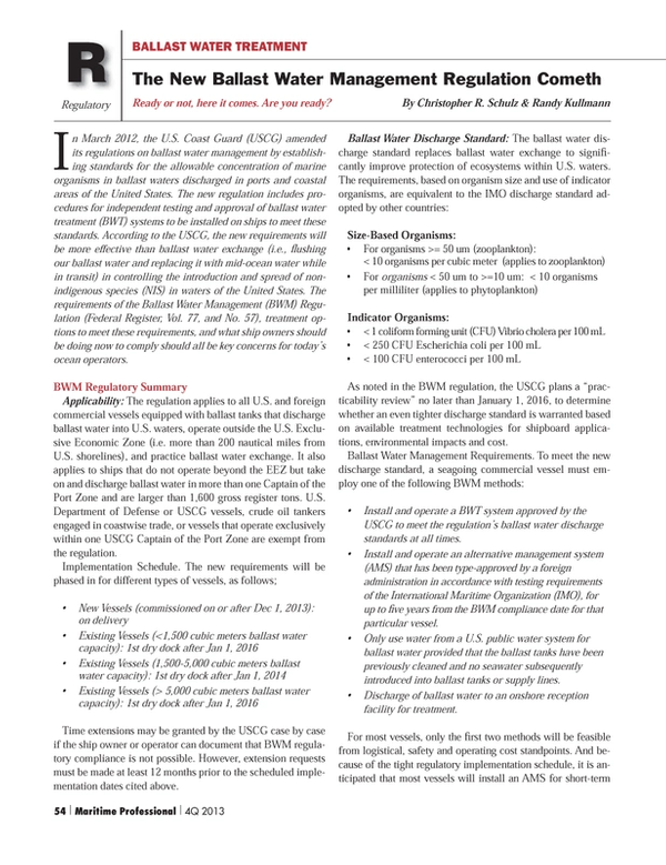 Maritime Logistics Professional Magazine, page 54,  Q4 2013