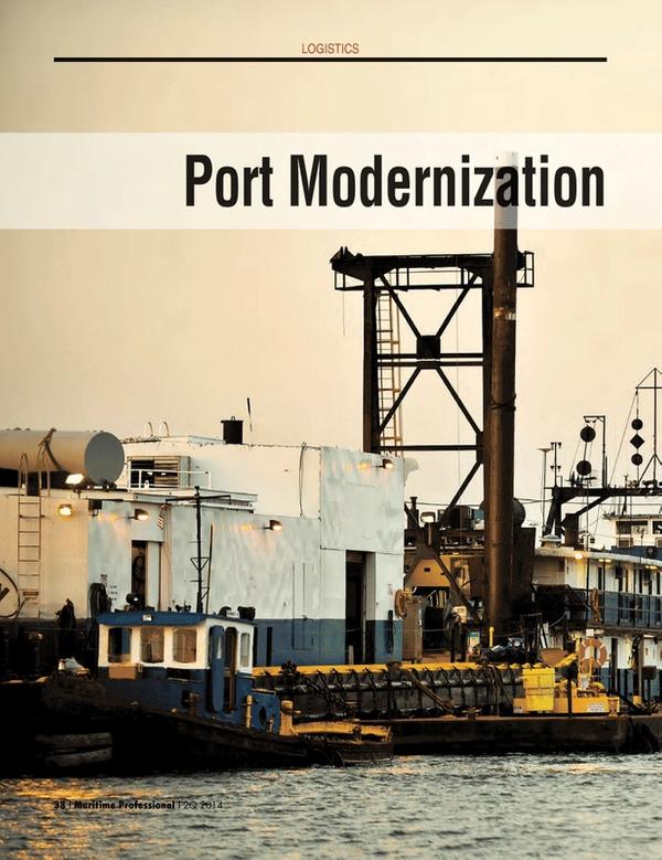 Maritime Logistics Professional Magazine, page 38,  Q2 2014
