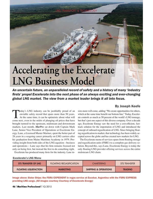 Maritime Logistics Professional Magazine, page 46,  Q1 2015