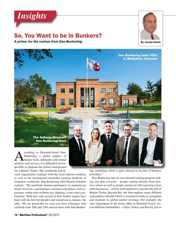 Maritime Logistics Professional Magazine, page 16,  Q2 2015