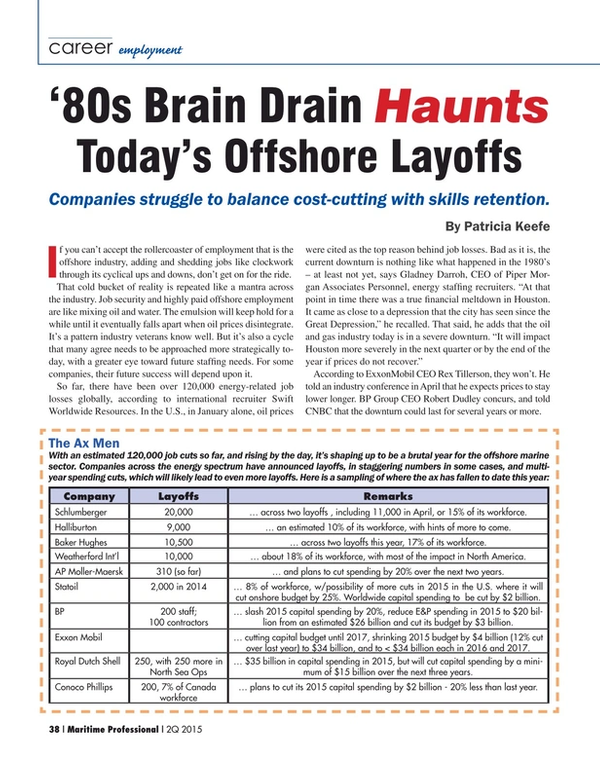 Maritime Logistics Professional Magazine, page 38,  Q2 2015