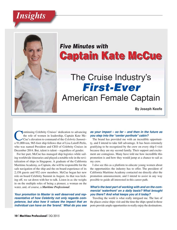 Maritime Logistics Professional Magazine, page 10,  Q3 2015