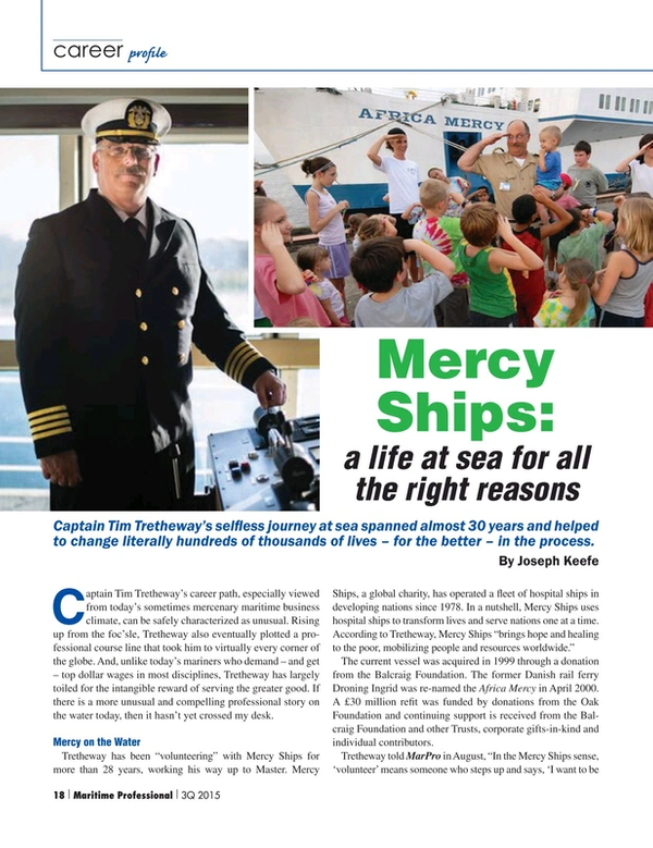 Maritime Logistics Professional Magazine, page 18,  Q3 2015