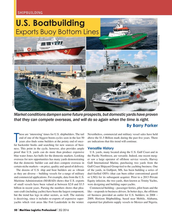 Maritime Logistics Professional Magazine, page 50,  Q3 2016