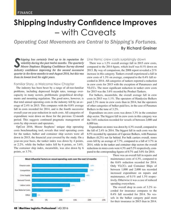 Maritime Logistics Professional Magazine, page 48,  Q4 2016