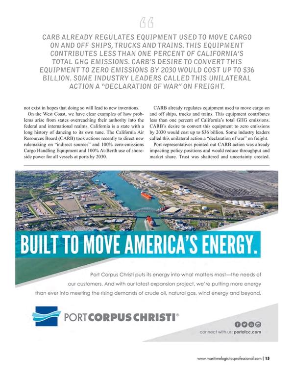 Maritime Logistics Professional Magazine, page 15,  May/Jun 2017