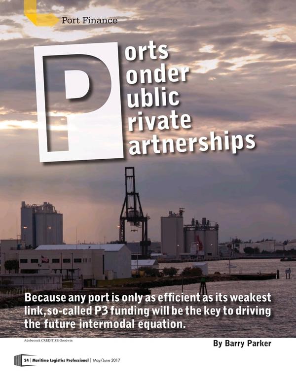 Maritime Logistics Professional Magazine, page 24,  May/Jun 2017