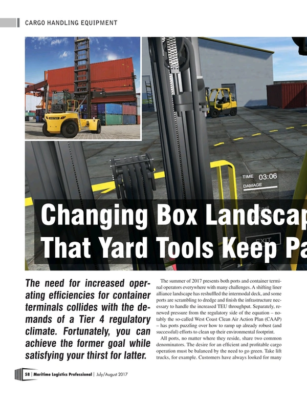 Maritime Logistics Professional Magazine, page 58,  Jul/Aug 2017
