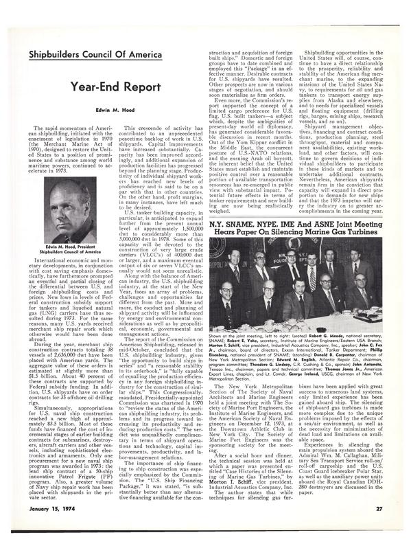 Maritime Reporter Magazine, page 25,  Jan 15, 1974