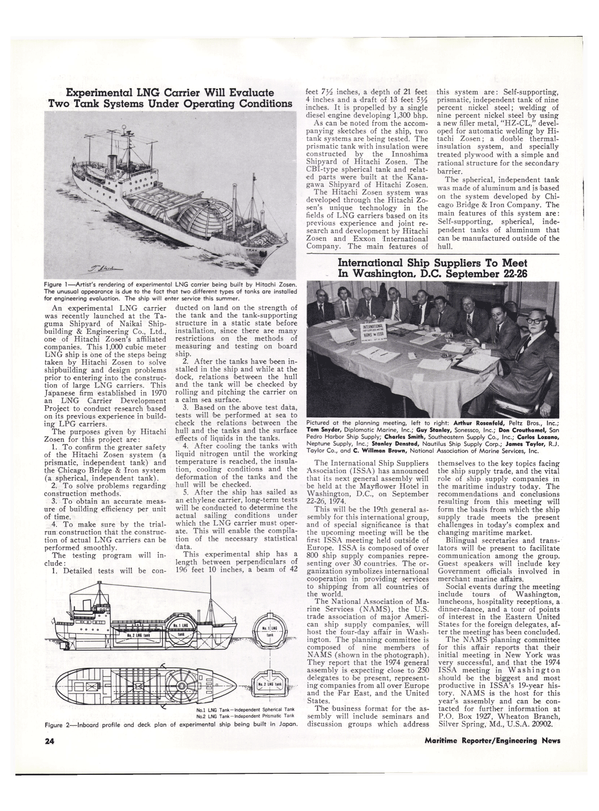 Maritime Reporter Magazine, page 21,  Feb 1974