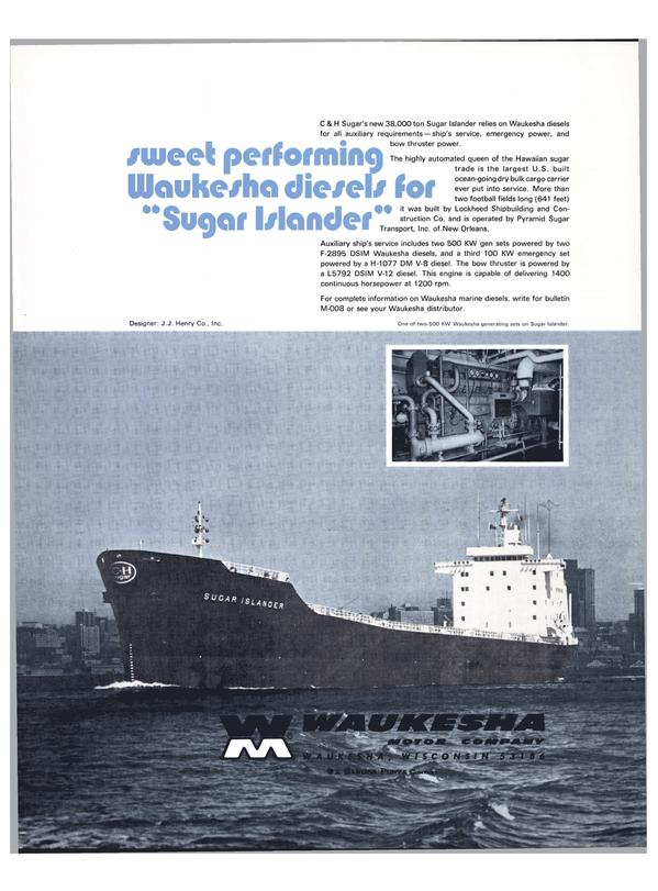 Maritime Reporter Magazine, page 32,  Feb 1974