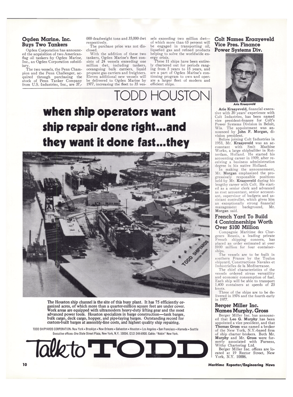 Maritime Reporter Magazine, page 7,  Feb 1974 Wisconsin