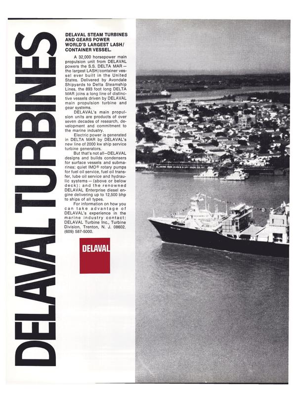 Maritime Reporter Magazine, page 14,  Feb 15, 1974