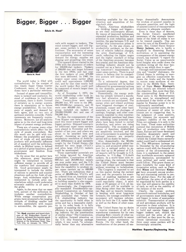 Maritime Reporter Magazine, page 15,  Feb 15, 1974