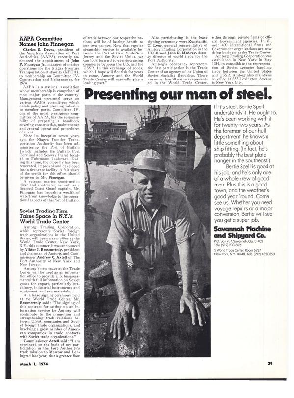 Maritime Reporter Magazine, page 35,  Mar 1974 Konstantin T. Lvov