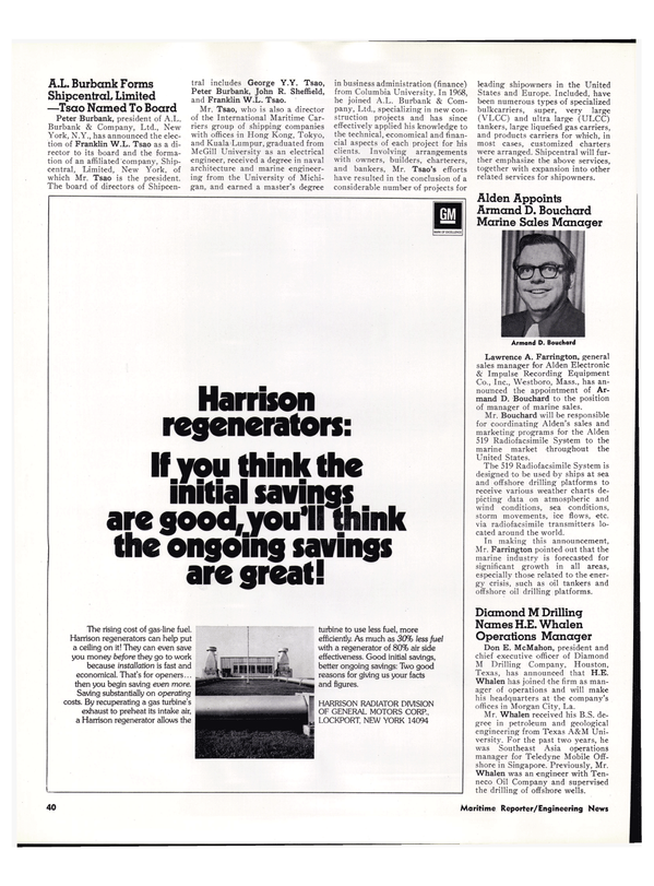 Maritime Reporter Magazine, page 36,  Mar 1974 Texas