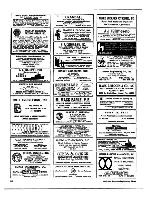 Maritime Reporter Magazine, page 31,  Apr 1974 Louisiana