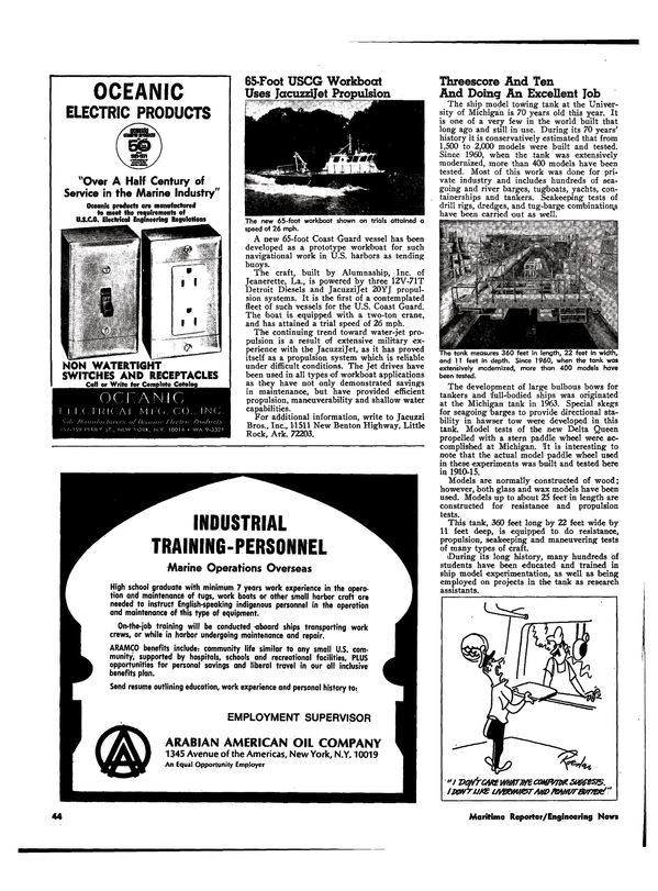 Maritime Reporter Magazine, page 41,  Apr 1974 United States