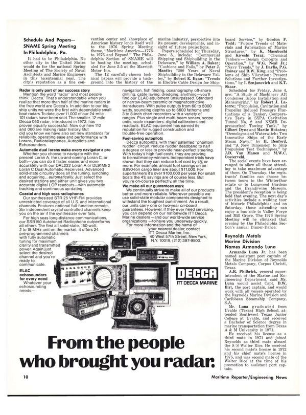 Maritime Reporter Magazine, page 8,  Apr 1976
