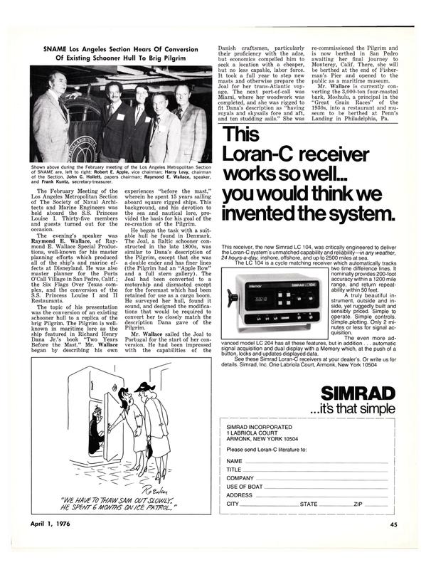Maritime Reporter Magazine, page 43,  Apr 1976