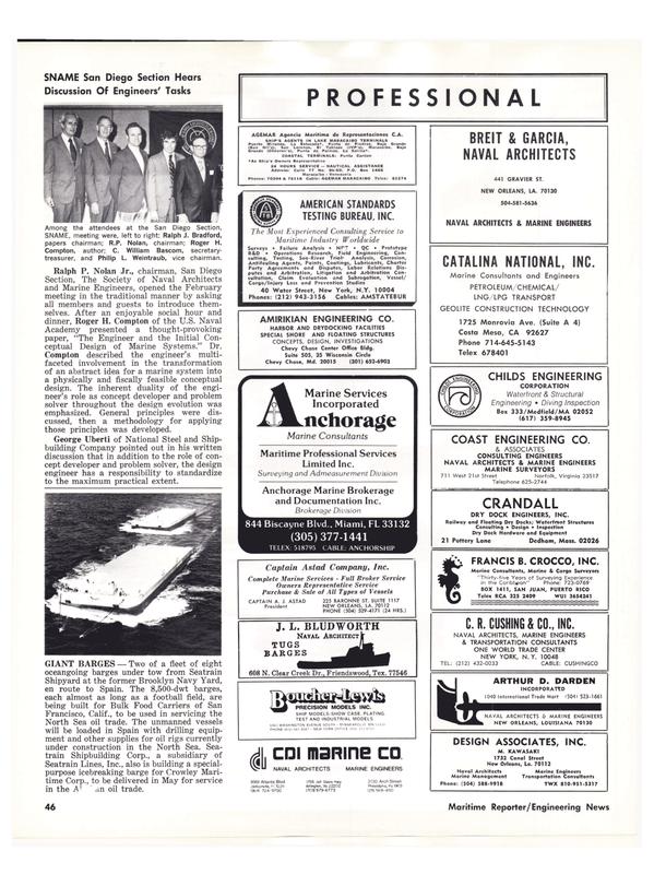 Maritime Reporter Magazine, page 44,  Apr 1976 California