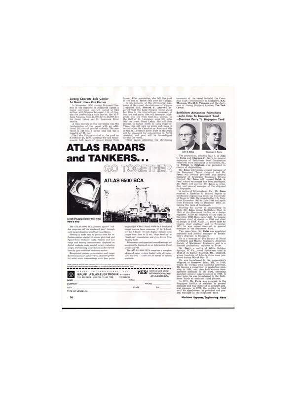 Maritime Reporter Magazine, page 26,  May 1977