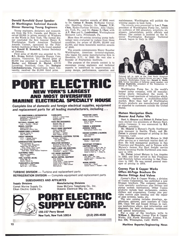 Maritime Reporter Magazine, page 12,  May 15, 1977