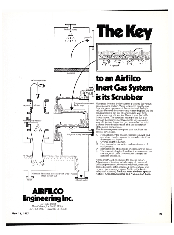 Maritime Reporter Magazine, page 29,  May 15, 1977