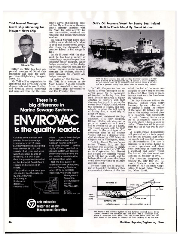 Maritime Reporter Magazine, page 38,  May 15, 1977