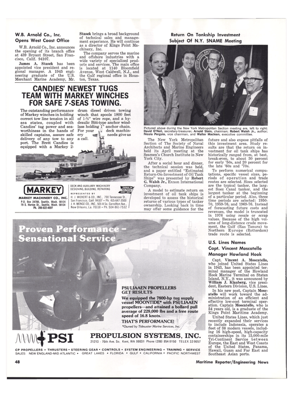 Maritime Reporter Magazine, page 40,  May 15, 1977