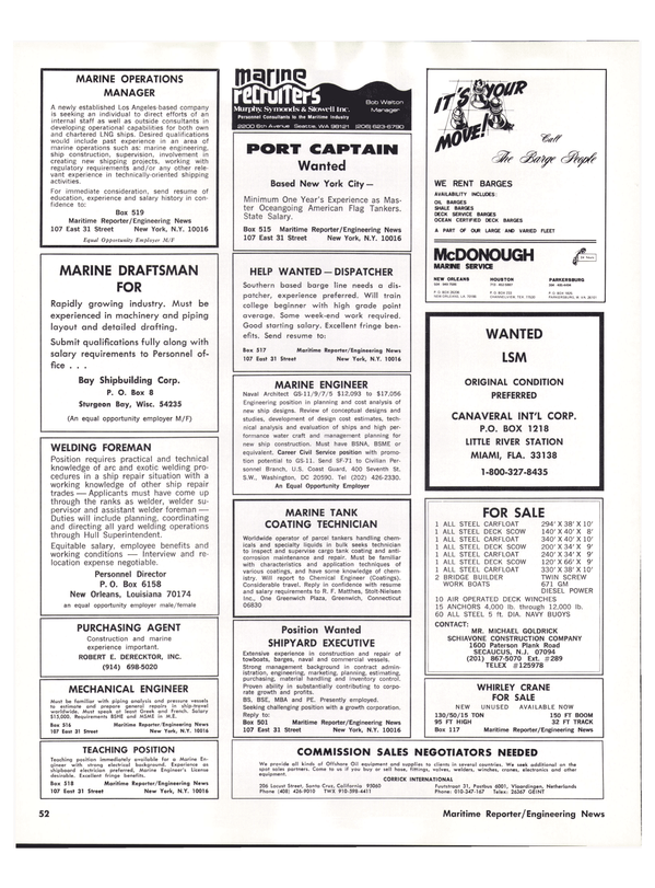 Maritime Reporter Magazine, page 44,  May 15, 1977