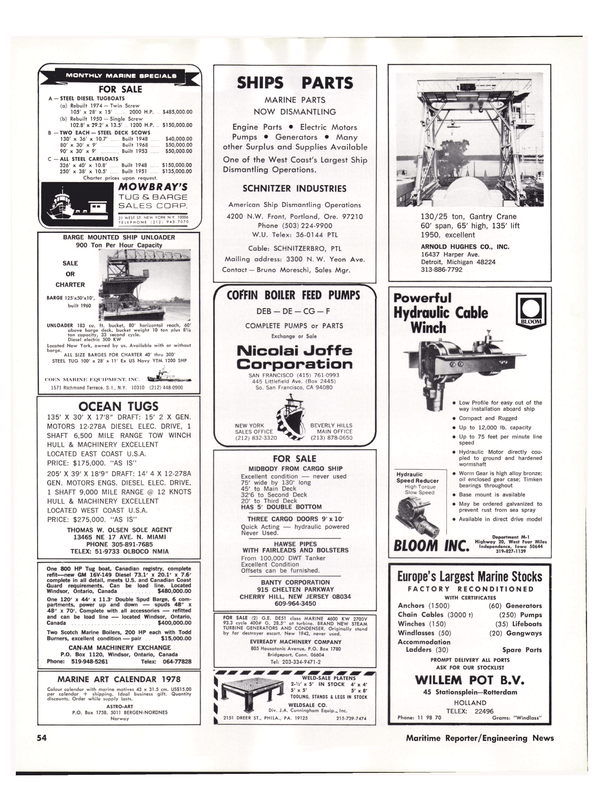 Maritime Reporter Magazine, page 46,  May 15, 1977