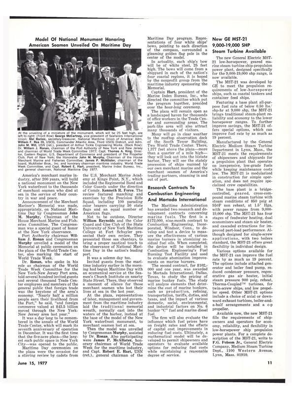Maritime Reporter Magazine, page 9,  Jun 15, 1977
