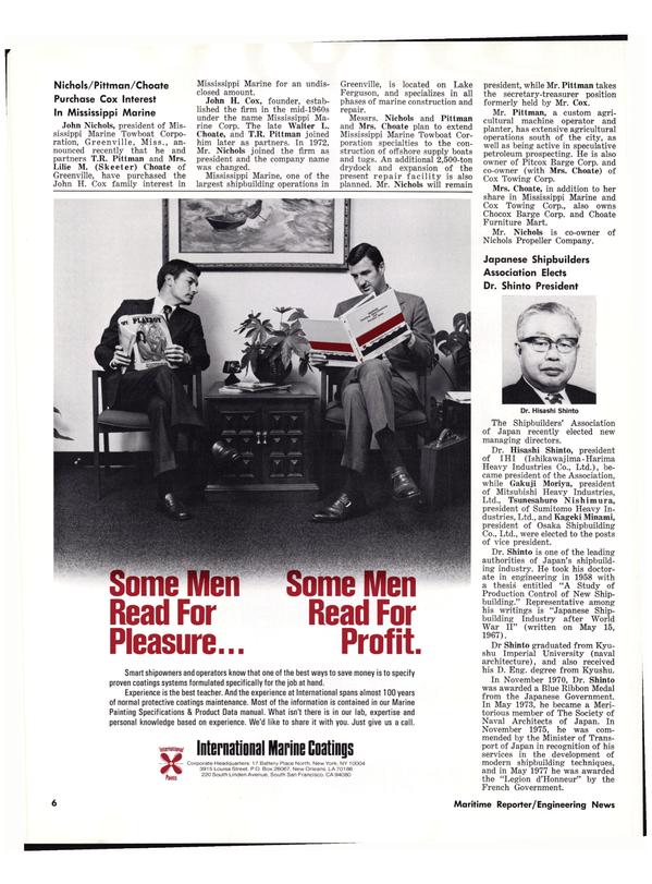 Maritime Reporter Magazine, page 4,  Jun 15, 1977